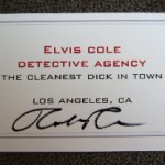 Winners of Elvis Cole Detective Agency Business Cards