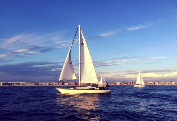 Sunset sail in Marina del Rey.
